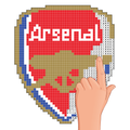 Pixel art football logo coloring : Color by Number