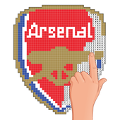 Pixel Art Football Logo Coloring Color By Number For
