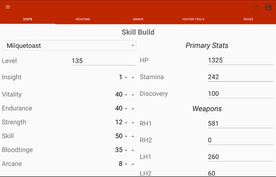Bloodborne Character Planner screenshot 8