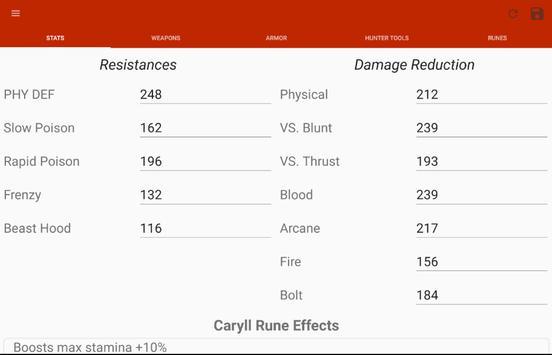 Bloodborne Character Planner screenshot 9