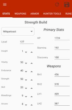 Bloodborne Character Planner screenshot 1