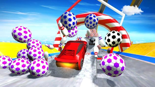 Impossible Mega Ramp Car Stunts Racing Drive screenshot 12