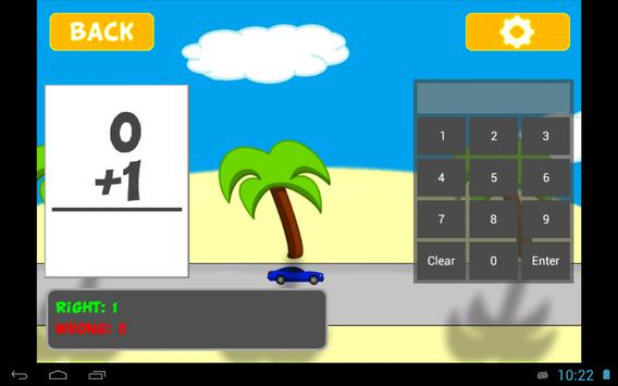 Racing Addition Kids Math Lite apk screenshot