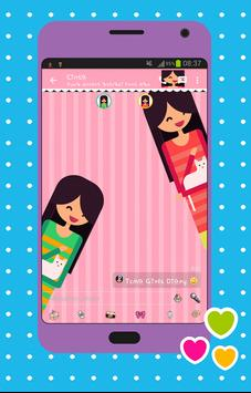 Tema Cute Girl apk screenshot