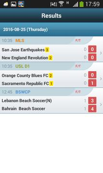 Football Live scores apk screenshot