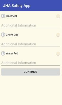 JHA Safety App screenshot 1