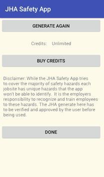 JHA Safety App screenshot 2
