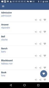Word Book English to French screenshot 2