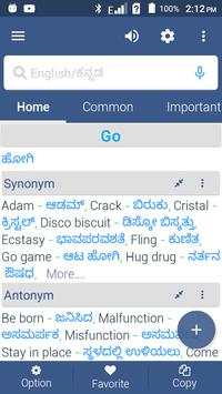 English To Kannada Dictionary screenshot 2
