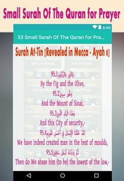 33 Small Surah Of The Quran for Prayer screenshot 3