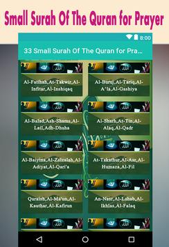33 Small Surah Of The Quran for Prayer screenshot 1