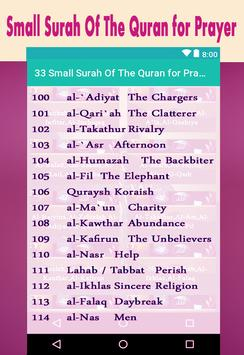 33 Small Surah Of The Quran for Prayer screenshot 4
