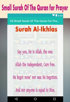 33 Small Surah Of The Quran for Prayer screenshot 5