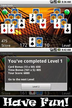 Triple Stack HD (Pyramids) apk screenshot