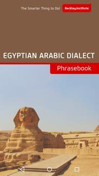 Egyptian Arabic Phrasebook poster