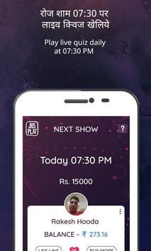 JusPlay - Live Trivia Show पोस्टर