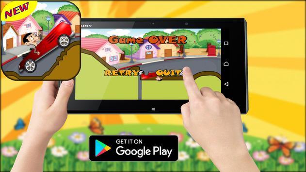 bean racing car apk screenshot
