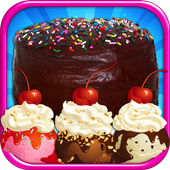 Cake & Ice Cream Maker FREE - Kids cooking Games icon