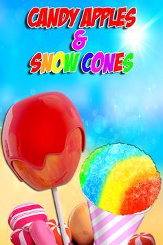 Candy Apples & Snow Cones - Frozen Dessert Food poster