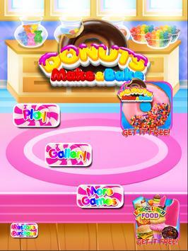 Donut Yum - Make & Bake Donuts Cooking Games FREE apk screenshot