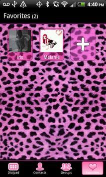 GO Contacts Pink Cheetah Theme apk screenshot