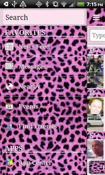 HD Pink Cheetah for Facebook screenshot 1