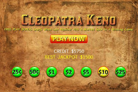 Cleopatra Keno - Big Bets screenshot 8