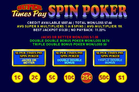Super Times Pay Spin Poker - FREE screenshot 7