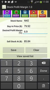 Stock Profit Margin poster