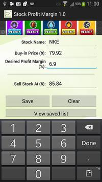 Stock Profit Margin poster