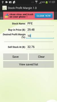 Stock Profit Margin apk screenshot