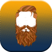 Beard photo montage Camera icon