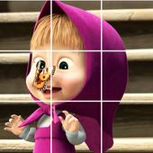 Bear the Masha Puzzles icon