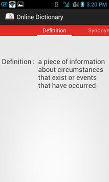 Online Dictionary apk screenshot