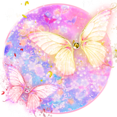 Beautiful Gold Butterfly Theme icon