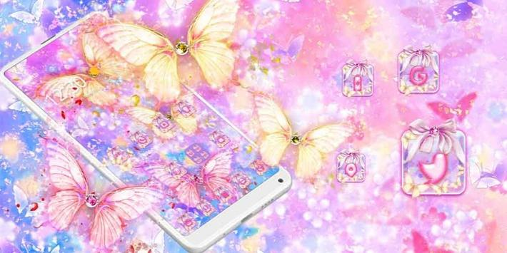 Beautiful Gold Butterfly Theme screenshot 3