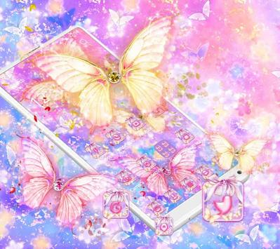 Beautiful Gold Butterfly Theme poster