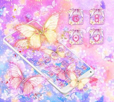 Beautiful Gold Butterfly Theme screenshot 1