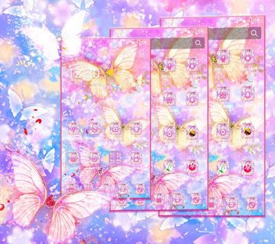 Beautiful Gold Butterfly Theme screenshot 2