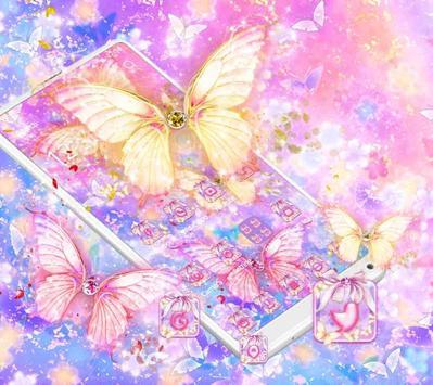 Beautiful Gold Butterfly Theme screenshot 7