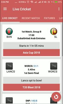 Live Cricket Score | IPL | World Cup screenshot 1
