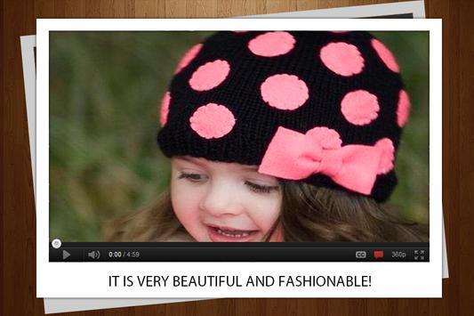 Beautiful knitted hats apk screenshot