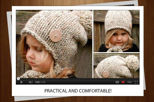 Beautiful knitted hats screenshot 1