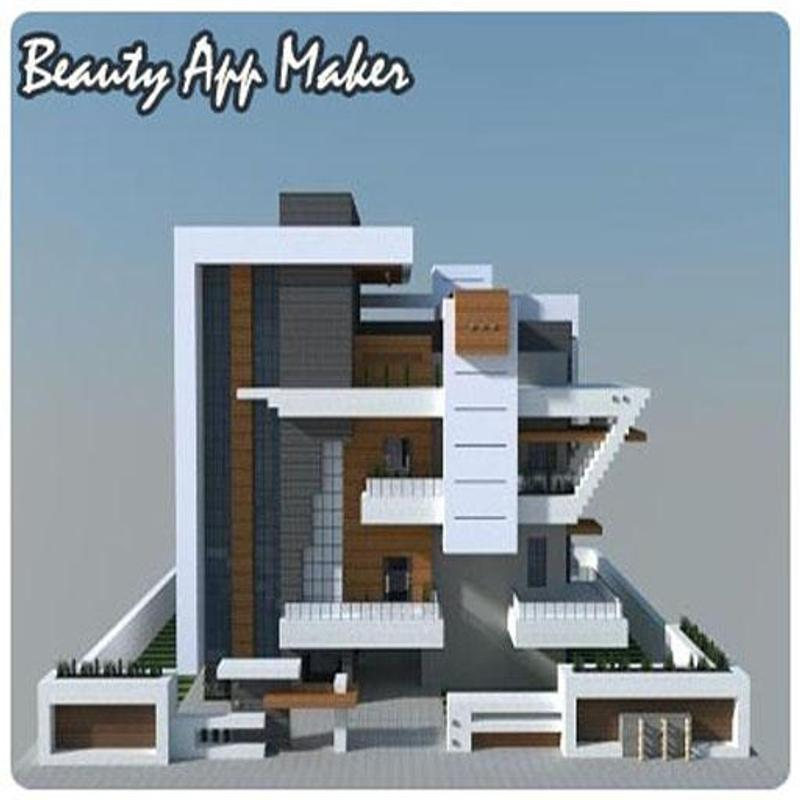Modern Minecraft House Design For Android: Modern House Minecraft For Android
