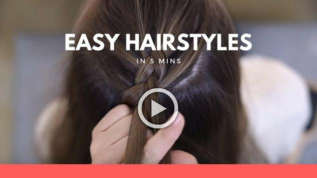 Hairstyles step by step in 5 mins screenshot 2