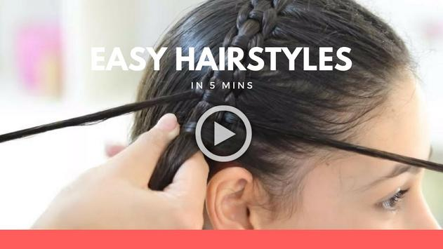 Hairstyles step by step in 5 mins screenshot 3