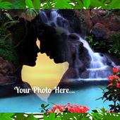 Waterfall Photo Background icon