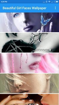 Beautiful Girl Faces Wallpaper poster