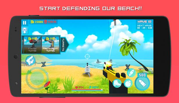 Beachhead Defender: Free 3D Shooting Games (FPS) screenshot 2