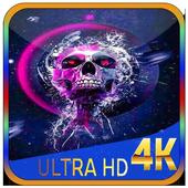Galaxy Skull Wallpaper icon